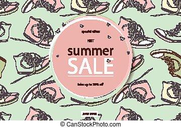 verano, moderno, deportes, shoes.