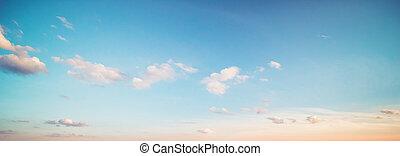 verano, nubes, cielo