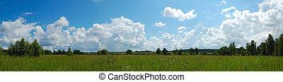 verano, paisaje, panorama