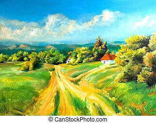 verano, paisajes