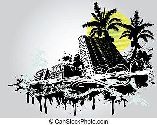 verano, palma, ciudad