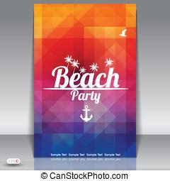 verano, partido playa, aviador, diseño