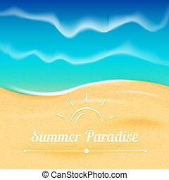 verano, plano de fondo, con, mar, vista.