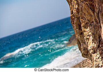 verano, playa, en, dalmatia, meridional, croacia