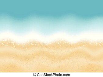verano, playa, plano de fondo, 1806