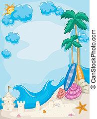 verano, playa, plano de fondo