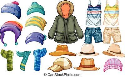 verano, ropa de invierno