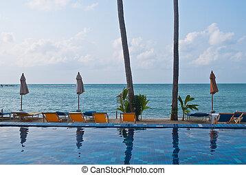 verano, samui, koh, tiempo, tropical, al lado de, mar, ...