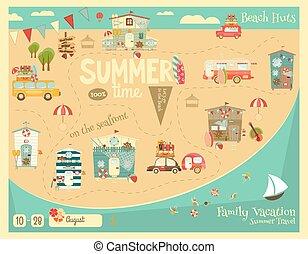 verano, tarjeta