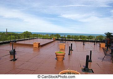 verano, tejado, cubierta