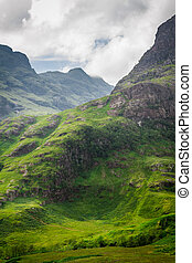 verano, tierras altas, escocia