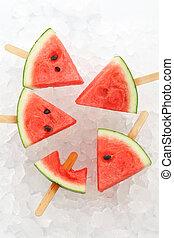 verano, yummy, chupete helado, dulce, fruta, sandía, postre...