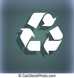 verarbeitung, ikone, symbol, auf, der, blau-grün, abstrakt, hintergrund, mit, schatten, und, raum, für, dein, text.