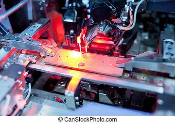 verarbeitung, laser, präzision, platine