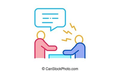 Verbal Battle Icon Animation. color Verbal Battle animated icon on white background
