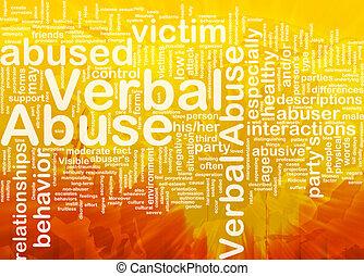 verbale, concetto, fondo, abuso