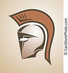 verbeeldingsvol, spartan, helm