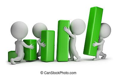 verbessert, leute, -, klein, leistung, 3d