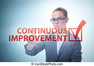 verbetering, concept, zakelijk, voortdurend