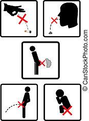 verbieten, zeichen & schilder, healthcare