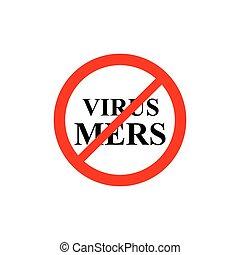 verbieten, zeichen, virus, mers