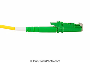 verbinder, e2000, faser, grün, optisch