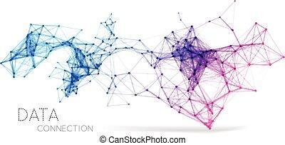 verbinding, abstract, achtergrond, netwerk