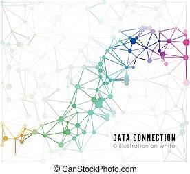 verbinding, abstract, netwerk