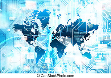 verbinding, concept, internet