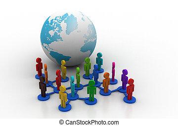 verbinding, globaal, mensen
