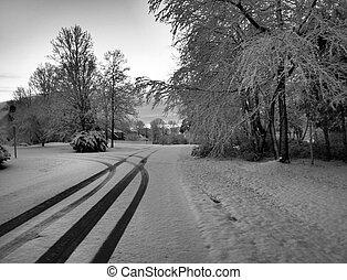 verbleibende wiedergabedauer - titel, schnee