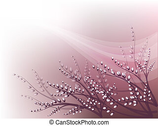 Verbochka - Decorative spring background with pussy-willow.