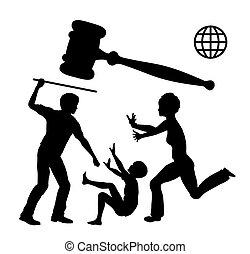 verbod, violence, huiselijk