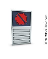 verboden, deur