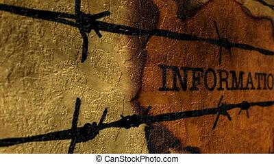 verboden, informatie, concept