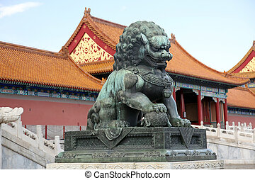 verboden, museum, china, stad, paleis