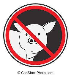 verboden, varken