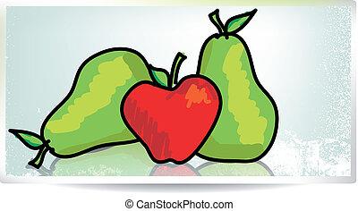 verboden, vector, fruit., illustratie