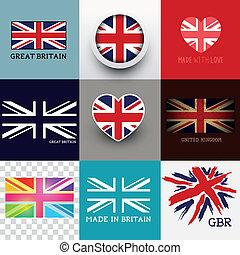 verbond vlag, vector, dommekracht, verzameling