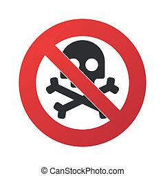 verboten, signal, ikone