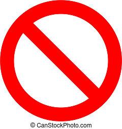 verboten, zeichen