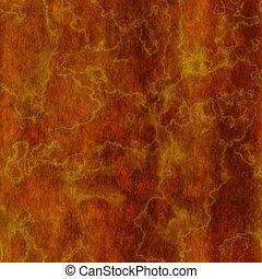 verbrannt, orange, marmor