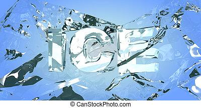 verbreking, de, ice., abstract, backround