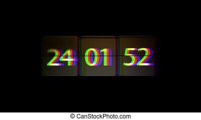 verbuiging, concept, infinitely, chaotisch, vasten, verhuizing, space., tijd, clock.