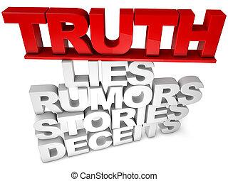 verdade, mentiras, rumores, histórias, deceits