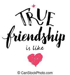 verdadeiro, amizade, caligrafia, amor, semelhante