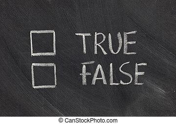 verdadeiro, falso, ou, checkboxes