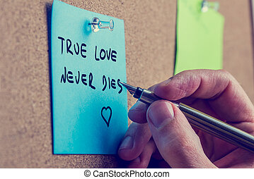 verdadeiro, nunca, amor, dies