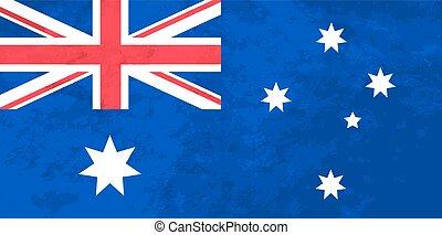 verdadeiro, proporções, bandeira australiana, com, textura