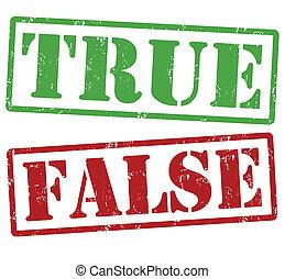 verdadeiro, selos, falso
